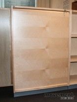 EFG sjalusiskap i bjerk / grått, 3høyder, 119.5 cm høyde, pent brukt