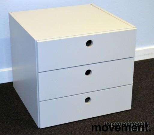 Innmat / skuffer til ISKU skap med 3 skuffer, 36cm bredde, 36cm dybde, 32cm høyde, pent brukt bilde 1
