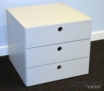 Innmat / skuffer til ISKU skap med 3 skuffer, 36cm bredde, 36cm dybde, 32cm høyde, pent brukt