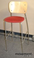 EFG Barkrakk i bjerk/grått/rødmønstret, 76,5cm sittehøyde, pent brukt