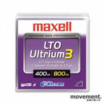 Kasse med 15 stk Maxell LTO Ultrium 3 Data Cartridge for backup, NY/UÅPNET