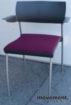 Kinnarps SquareOne konferansestol i grå/lilla, brukte