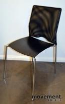 Lammhults Cosmos Konferansestoler i krom/sort/mesh, pent brukte