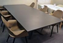 Lammhults FUNK Møtebord i grått, 280x140cm, passer 8-10 personer, pent brukt