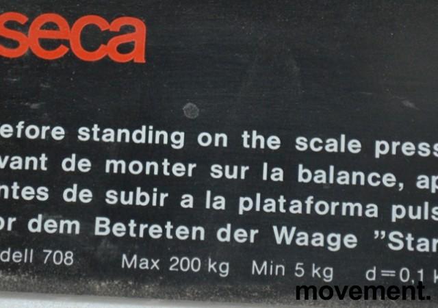 Helsestasjonsvekt / badevekt med målestokk for høyde, SECA 708, brukt bilde 3