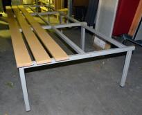 Understell til garderobeskap, med benk, 268cm bredde, 93 cm dybde, 43cm høyde, brukt