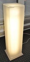 Pidestall i frostet plexiglass, lysende søyle, innvendig belysning, pent brukt