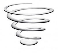 Excel Spiral fruit bowl stainless steel, fruktbolle i rustfritt stål , pent brukt