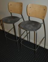 EFG Barkrakk i bjerk/grått/grått sete i mikrofiber, 76cm sittehøyde, pent brukt