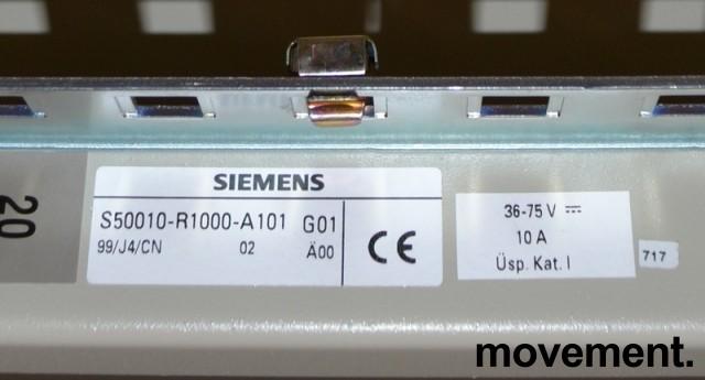 Høyt, åpent patcheskap for nettverk etc, Siemens 220cm høyde, pent brukte bilde 3