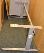 Understell til elektrisk hevsenk i grått, passer hjørneplate, 200cm bredde, pent brukt