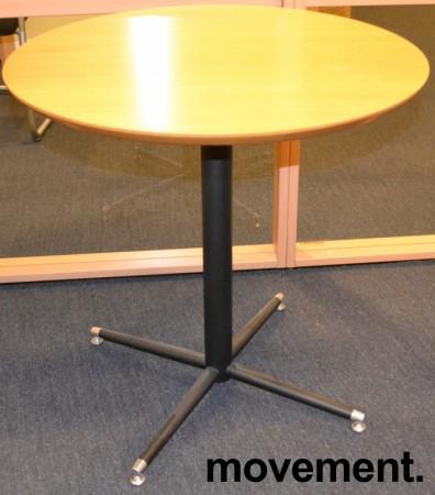 Rundt bord fra HovDokka i bok sort, u00d8=75cm, H=75cm, pent brukt