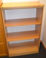 EFG Sjalusiskap i bøk, 3 permhøyder, 128,5cm høyde, brukt