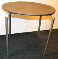 Rundt bord Ikea PS-serie i grå plast / metall, Ø=79cm H=73cm, pent brukt