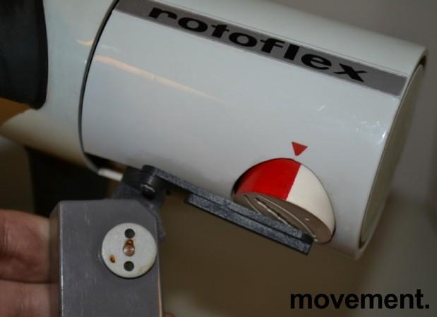 Rotoflex retro 70talls tysk bordvifte med gummiblader, pent brukt bilde 4