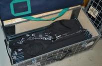 Messevegger fra Expand, 2 kolli i flightcase/transportkasser, brukt