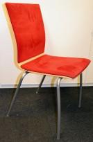 EFG Konferansestol i bjerk/grått/rødt, modell SIT, pent brukt