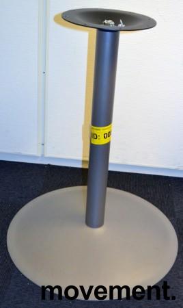 EFG Søylefot understell i grålakkert metall, 69,5cm høyde, pent brukt bilde 1