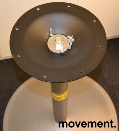 EFG Søylefot understell i grålakkert metall, 69,5cm høyde, pent brukt bilde 2