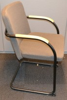 Komfortable møteromsstoler fra HovDokka i bøk/sort/grått stoff, brukt