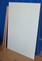 Whiteboard i grønnfrostet glass, 148x100cm, pent brukt