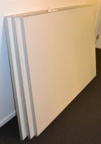 Silverscreen 180x120cm, fast prosjektorskjerm / prosjektor-lerret med ramme, pent brukt