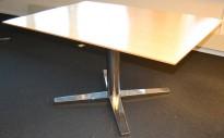 Materia kompakt møtebord i bjerk/krom, 140x100cm, pent brukt