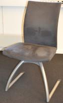 Håg H04 Comm 4470 i grå mikrofiber, pen besøksstol/ møteromsstol, pent brukt