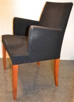 Loungestol / møteromsstol fra Andreu World, kirsebær/sort comfort, pent brukte