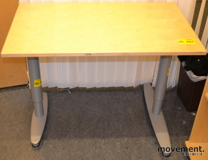 Kinnarps T serie kompakt skrivebord avlastningsbord i bjerk, 100x60cm, brukt