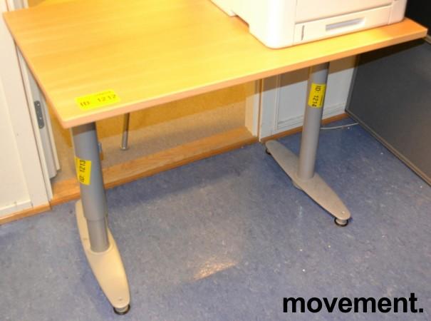 Kinnarps T serie kompakt skrivebord avlastningsbord i bok, 100x60cm, brukt