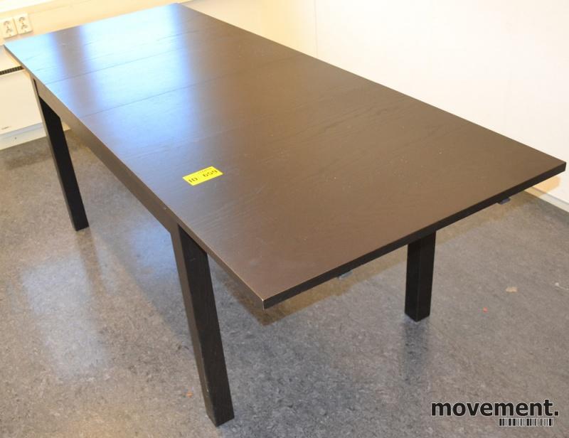Ikea Bjursta spisebord i brunsvart,sammenleggbart bord, 220x84cm ...