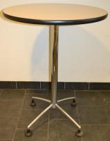 Lekkert ståbord lys plate / polert aluminium, Ø=80cm H=107cm, pent brukt