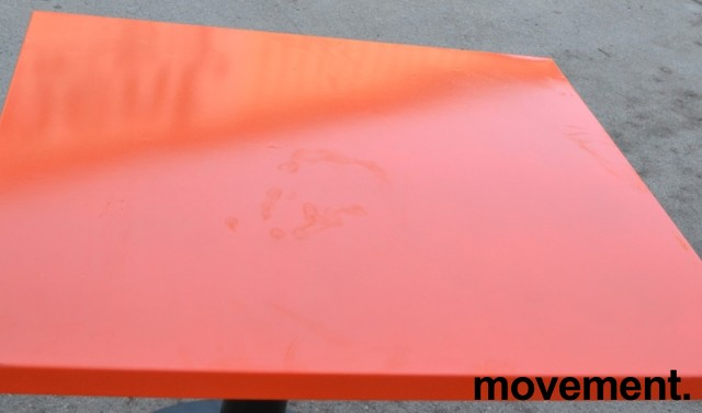 Fast plate i orange stål til pallereol, 1pallbredde pr plate, fast dekke i pallereol, 89,4 x 100 cm, orange lakk, NY bilde 9