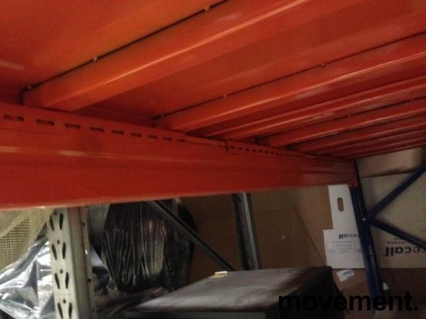 Fast plate i orange stål til pallereol, 1pallbredde pr plate, fast dekke i pallereol, 89,4 x 100 cm, orange lakk, NY bilde 8