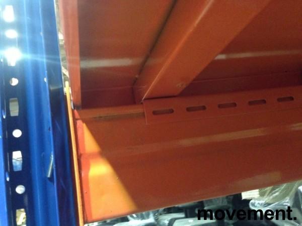 Fast plate i orange stål til pallereol, 1pallbredde pr plate, fast dekke i pallereol, 89,4 x 100 cm, orange lakk, NY bilde 7