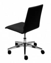 Moon Konferansestol på hjul i sort stoff / krom, utstillingsmodell