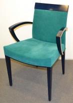 Møteromsstoler i sort / grønn comfort fra Paco Capdell, pent brukte