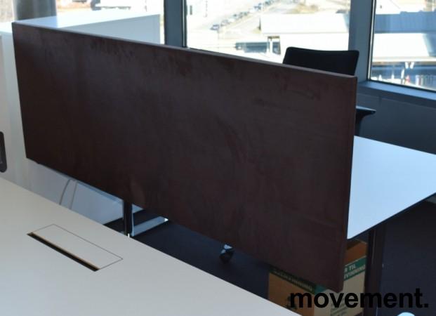 Bordskillevegg fra Edsbyn i brun mikrofiber, 180cm bredde 65cm høyde, pent brukt bilde 2