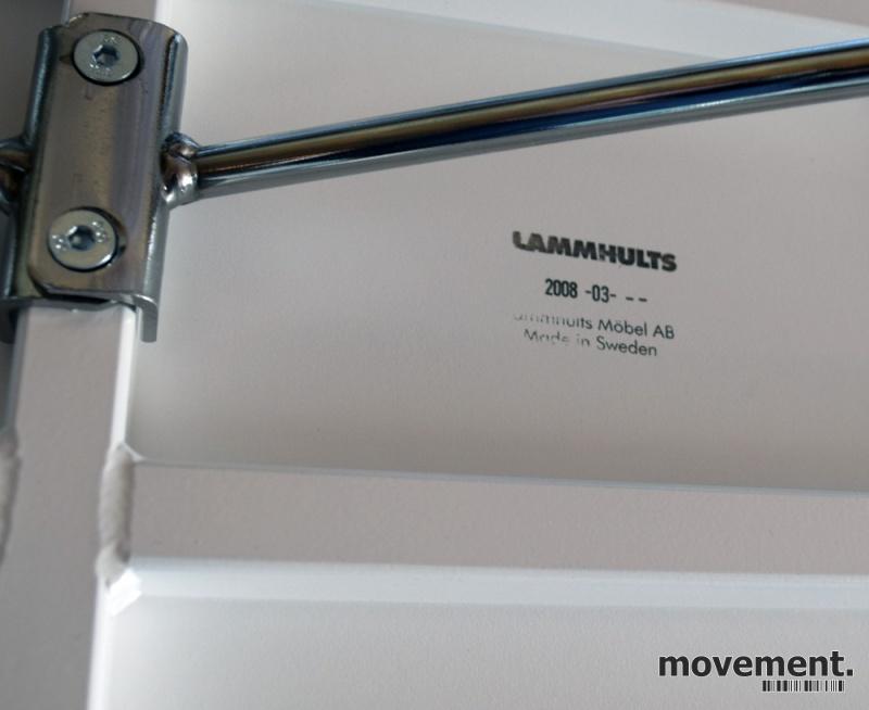 Motebord fra Lammhults i hvitt, SATURN,sammenleggbare ben, Ovalt 190x90cm, pent brukt