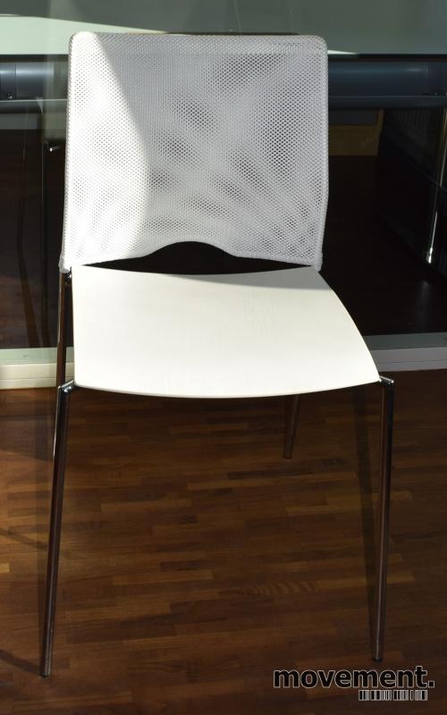 Lammhults Cosmos Konferansestoler ikrom hvitt hvit mesh, pent brukte