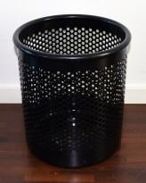 Papirkurv / søppelbøtte fra Rexite, i sortlakkert metall, pent brukt