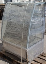 Pizzavarmeskap / oppvarmet serveringsdisk med glassfront, 89cm bredde, brukt