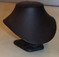 Hals for utstilling/oppbevaring av smykker, sort, pent brukt