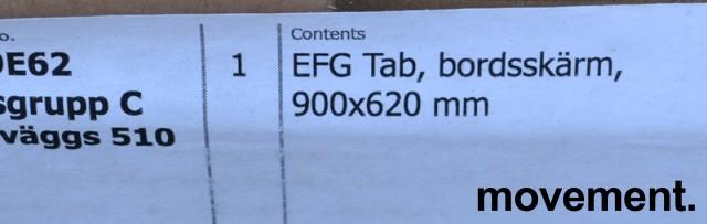 Bordskillevegg TAG fra EFG, i blågrått stoff. Ny i eske. bilde 2