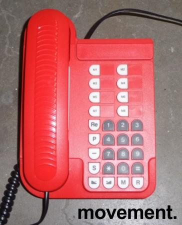 Telenor Jupiter Basic Retro telefonapparat i rød plast, pent brukt bilde 1