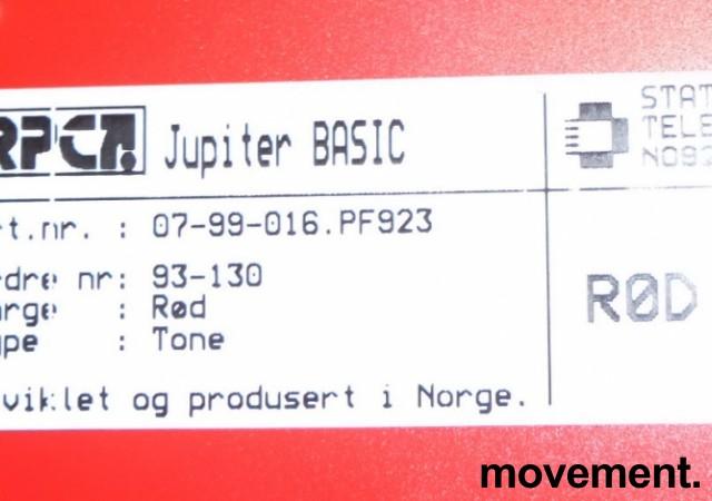Telenor Jupiter Basic Retro telefonapparat i rød plast, pent brukt bilde 2