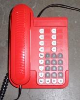 Telenor Jupiter Basic Retro telefonapparat i rød plast, pent brukt