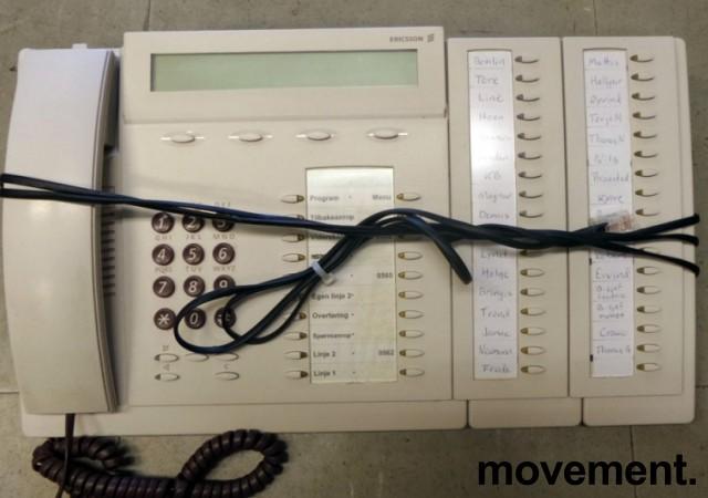 Ericsson Sentralbordapparat for MD110 telefonsentral, Dialog 3213 (Bred versjon med sidepanel), brukt bilde 1