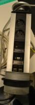 Evoline strømsøyle / datasøyle for nedfelling i plate, pent brukt